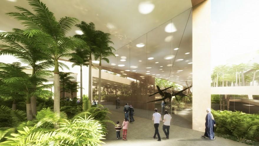 Interior garden rendering