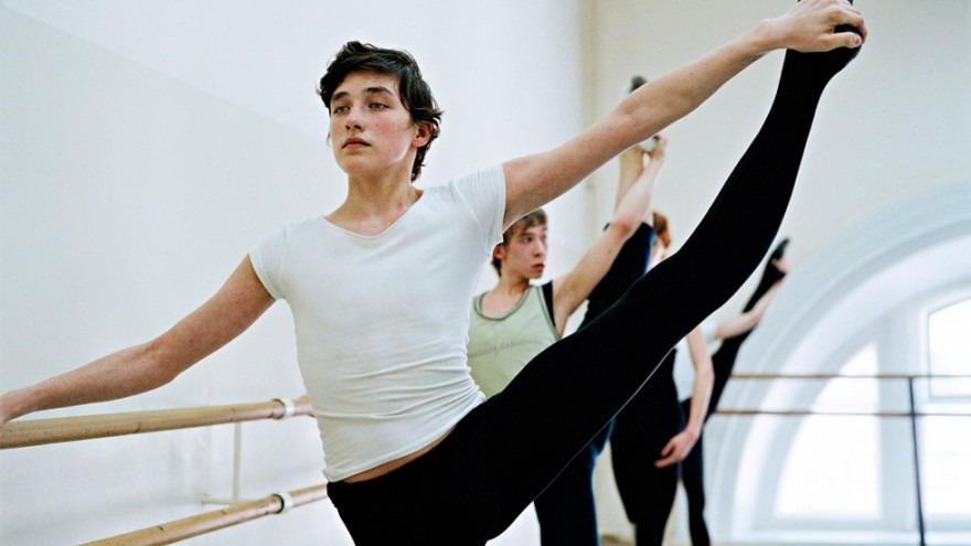 Older Vaganova dancers training