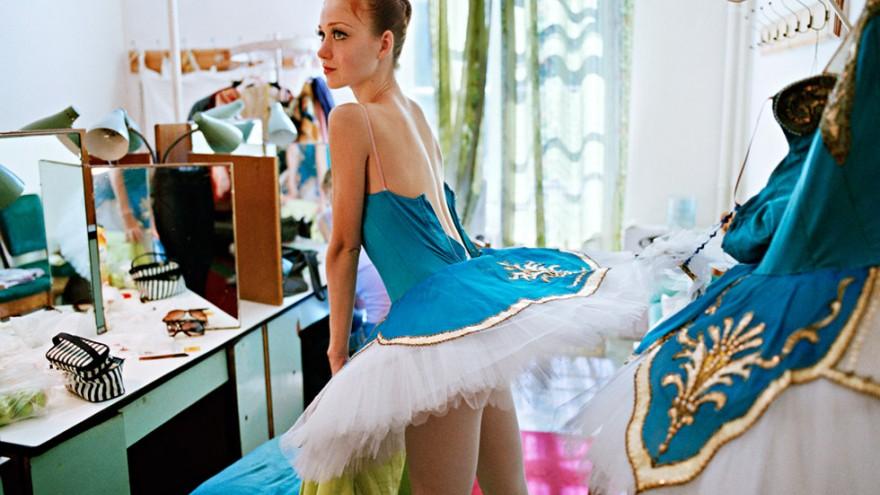 Dancer preparing for performance