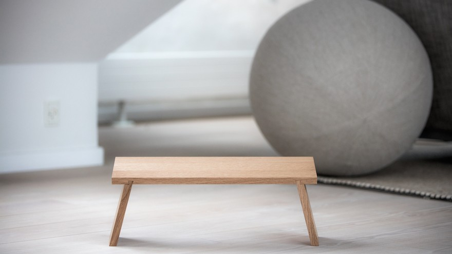 The collapsable Sedeo stool by Danish studio Fundament Design is crafted by local artisans and has been created to help with meditation and mindfulness