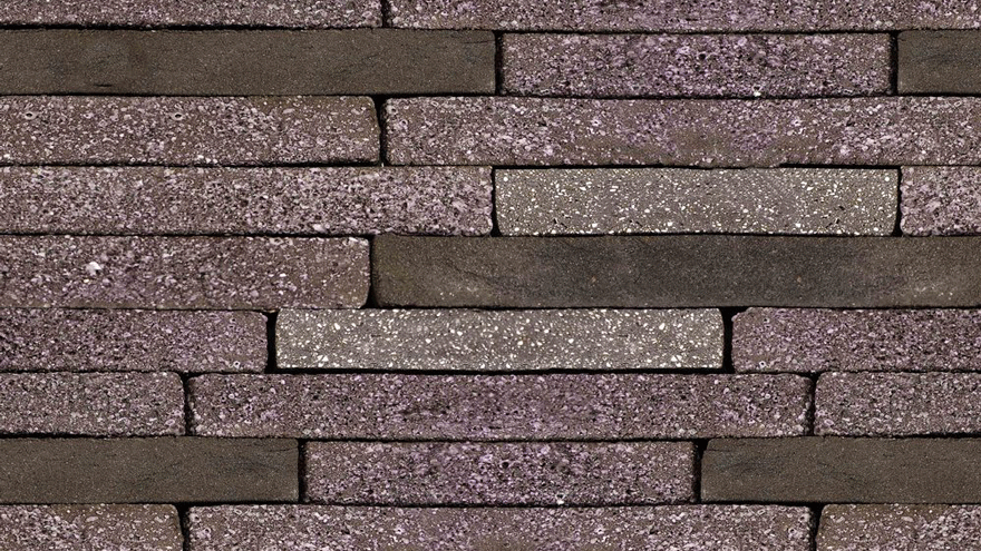 A wall of 'Aubergine' bricks