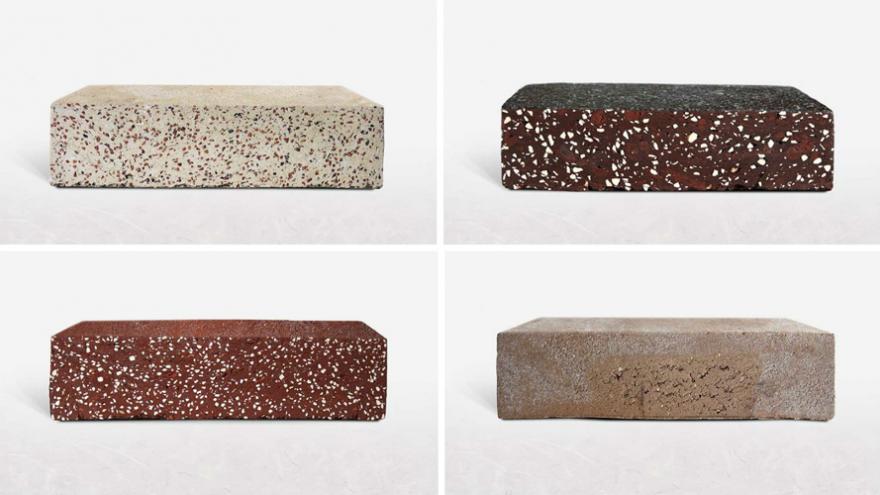 Variety of WasteBasedBricks