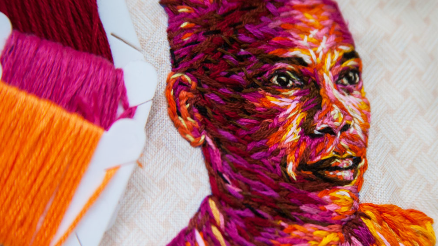 Clough's embroidery