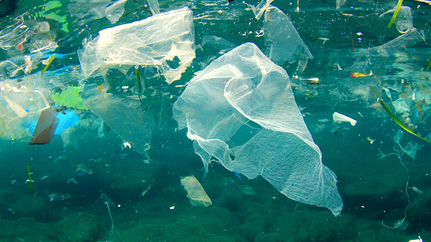 Plastic waste in the Pacific Ocean