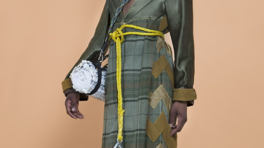 Kouto's collection is made out of discarded garments