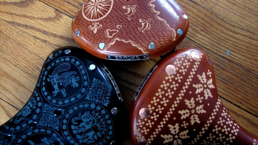 Holy Trinity saddle design by Kara Ginther.