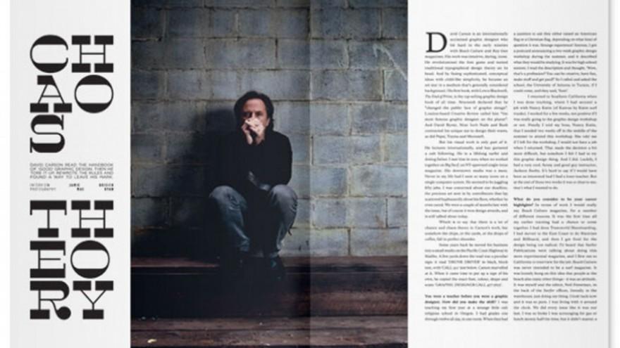 Huck magazine, in collaboration with David Carson.