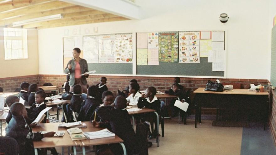 In the classroom. Photo: Angela Buckland.