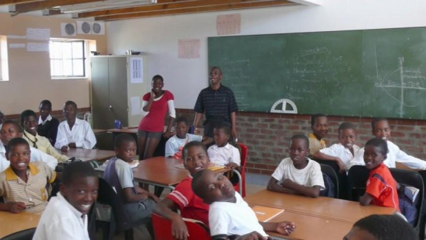 In the classroom. Photo: Steve Kinsler.