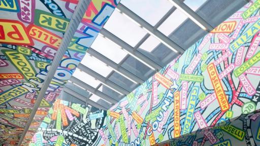 Paula Scher mural