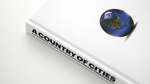"""A Country of Cities"" cover design by Michael Bierut & Britt Cobb. Images: Pentagram."