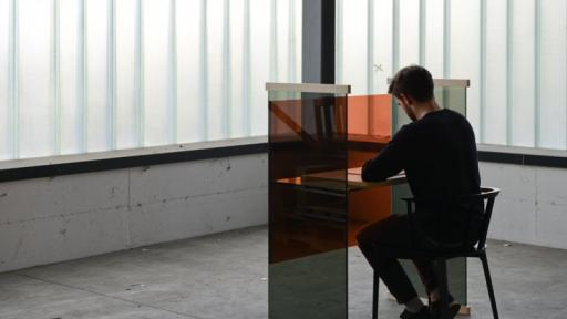 Diapositive desk by the Bouroullec Brothers for Glas Italia.