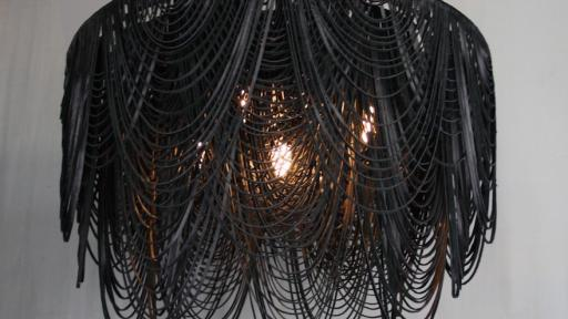 High Thorn leather Whispers chandelier.
