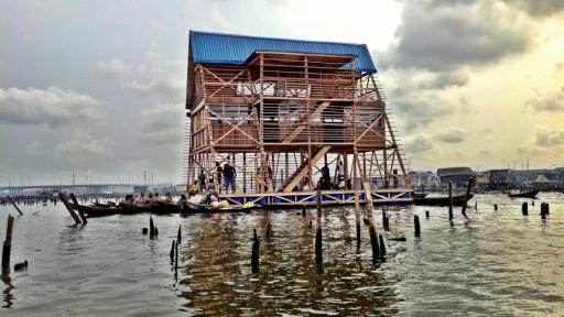 Makoko Floating School by NLÉ. Photo: cmapping.net.