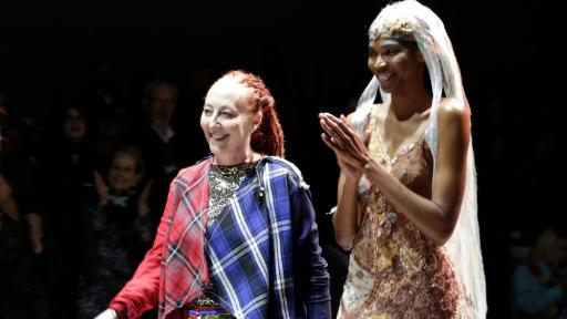 Marianne Fassler on the ramp at Mercedes-Benz Fashion Week Cape Town. Image: SDR Photo.