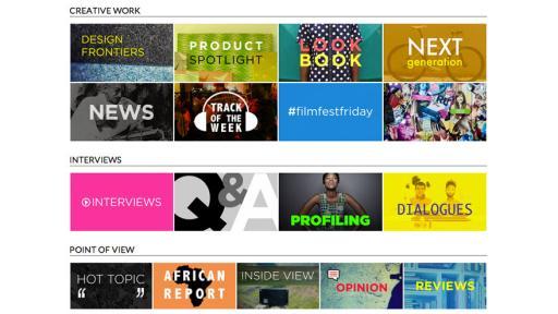 Designindaba.com's new features
