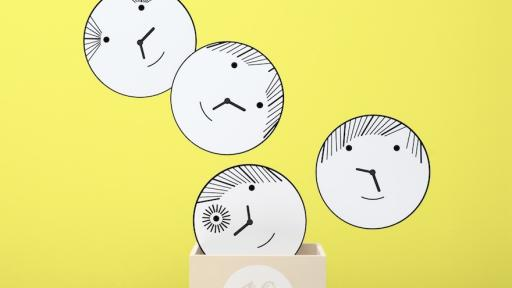 Bad Boys wall clocks by Matali Crasset.
