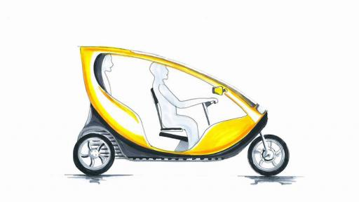 Mellowcabs concept drawing.