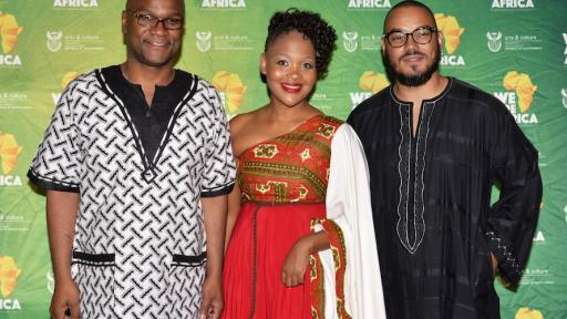 Minister of Arts and Culture Nathi Mthethwa at a  We Are Africa celebration