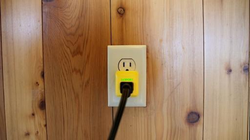 The SunPort plug lets you use solar energy everywhere you go