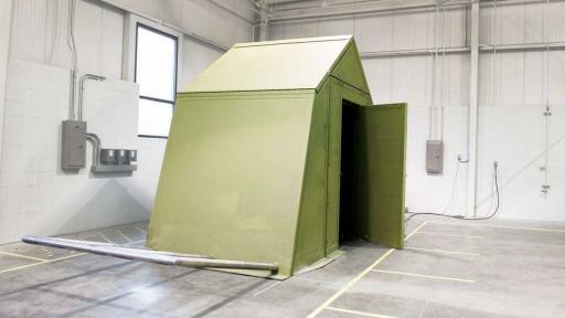 Origami-inspired shelter designed by engineering team