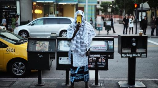 Serge Attukwei Clottey turns Ghana's symbol of scarcity into political art.