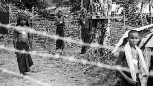 The refugees held in the Taung Pyo camps by the Myanmar government