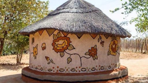 My Beautiful Home in the rural Matobo district of Zimbabwe is breathing new life into the local tradition of hut painting
