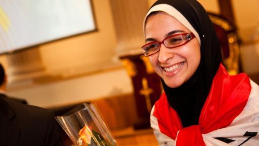 Teenager Azza Faiad is pioneering an inexpensive way to turn plastic waste into biofuel. Image: europa.eu