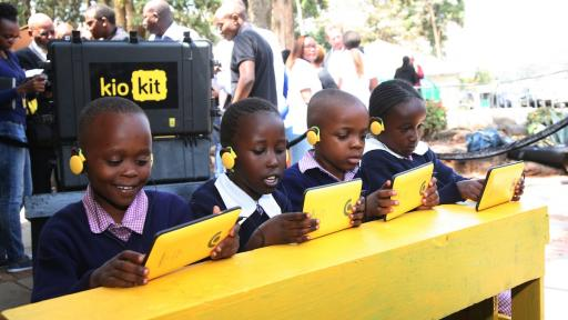 The ruggedised tablet and education kit designed by Nairobi technology company BRCK is making digital learning more accessible to Kenya's children. Image: brck.com
