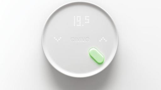 The Qivivo thermostat designed by 5.5 designstudio in Paris