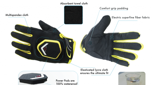 BeSeens safety cycling gloves