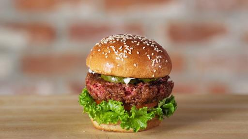 Impossible Foods have developed an entirely vegetarian burger that simulates meat so well that it bleeds