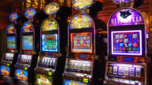 A range of slot machines