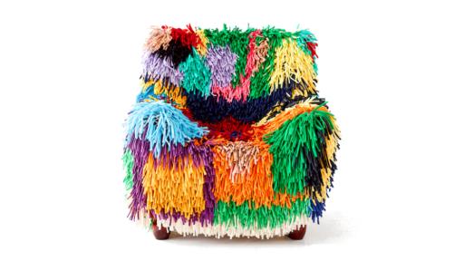 RAGAMUF chair rug by Martta Leskela and Tuula Poyhonen