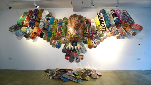 Haroshi Scateboard sculpture
