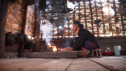 Woman cooking over open fire - Image Credit - World Bank/Screengrab