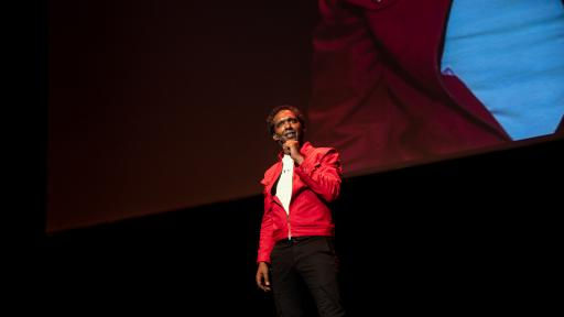 Lemn Sissay speaking at Design Indaba 2019