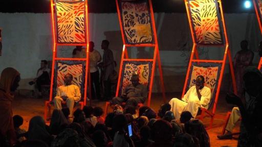Les Chaises Koubeyni at night in Niamey