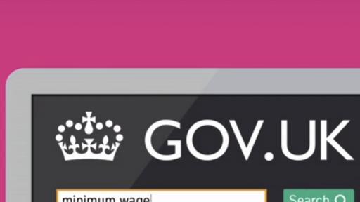 The gov.uk website designed by Ben Terrett