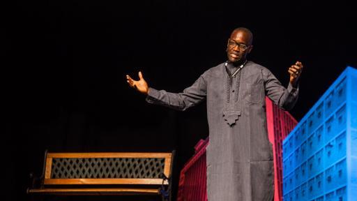 Ije Nwokorie on stage at Design Indaba Conference 2014. Image: Jonx Pillemer.