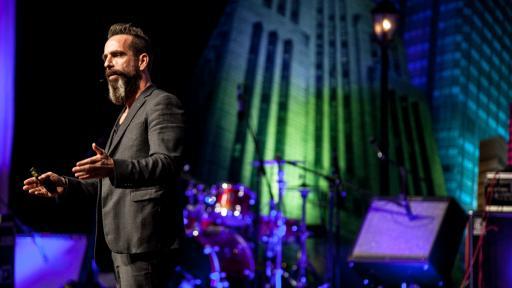 Michel Rojkind on stage at Design Indaba Conference 2014.