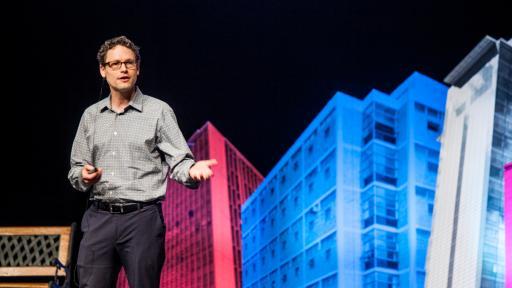 Jake Barton on stage at Design Indaba Conference 2014.