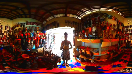 Techno-progressive virtual reality studio NubianVR has created a 360-degree film set in a dreamlike virtual version of Accra. Image: afrocyberpunk