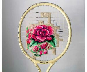 Using vintage tennis rackets, old coffee bags and other second-hand waste, Danielle Clough is breaking the mould of contemporary art.