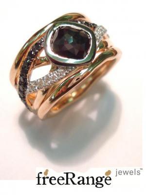 Black Poki Diamond Ring by freeRange jewels