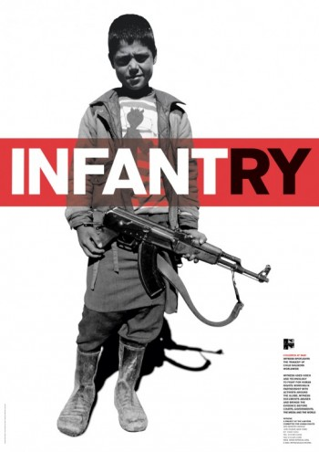 Infantry poster for Witness. Courtesy of Harry Pearce / Pentagram.