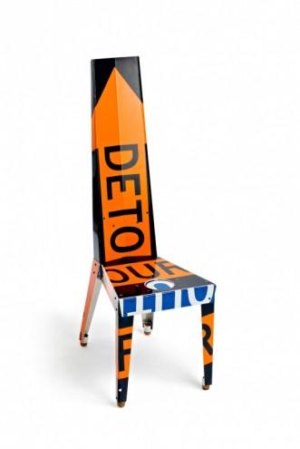 """Transit Chair, Orange """"Detour"""". Photo: JW Johnson."""