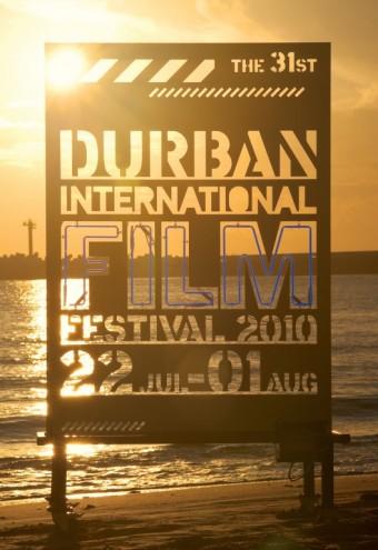 Durban International Film Festival illuminated poster. Courtesy of Richard Hart