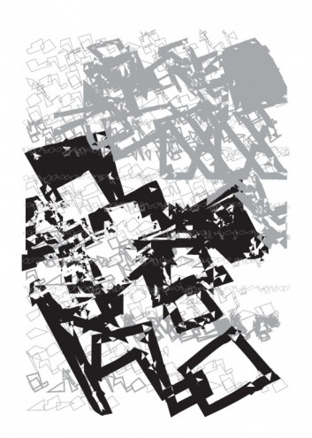 """FUSE 20 """"Landwriting"""", poster and fonts by RAD HOC."""